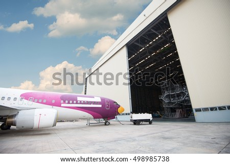 This airplane is disassembled to basic parts and workers and engineers are performing repairs, fixes, modernization and renovation in U-Tapao International Airport, Rayong,Thailand February 5, 2014
