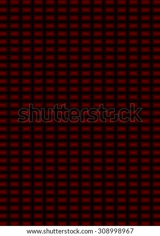 This background is of a deep red and black small rectangles.
