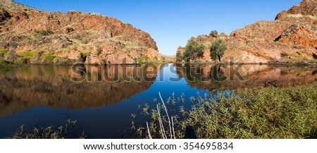This beautiful lake is found in Western Australia. Part of River Ord. Lake Argyle