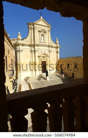 This Cathedral lies inside the walls of the Citadel of Victoria in Gozo, one of the Maltese islands