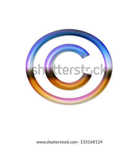 this copyright is symbol used in copyright notice for works other   sound record and international copyright symbol - stock photo