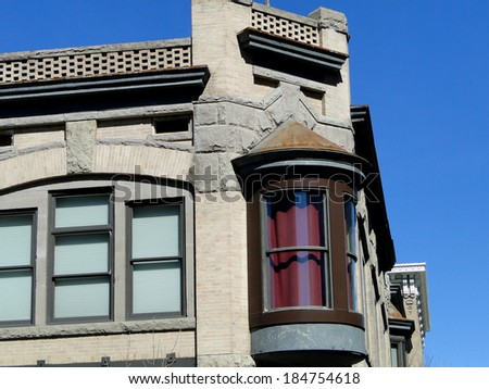 This historic building in Boise, Idaho was constructed between 1902-1904 at the location of the old Gem Saloon.                              - stock photo