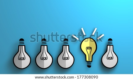 This illustration symbolizes a concept of emerging idea. For business background.