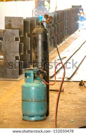 This image is gas tank used in the industry.