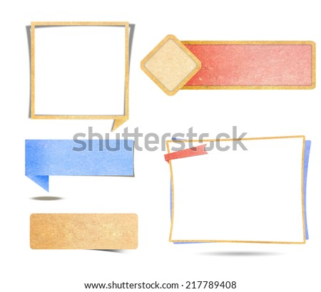 This image representing a collection of labels. / Labels / Labels - stock photo