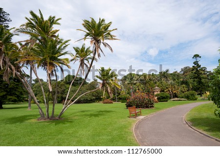 This image shows a view within the Royal Botanical Gardens - stock photo