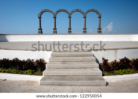 This image shows Los Arcos in Puerto Vallarta, Jalisco, Mexico - stock photo
