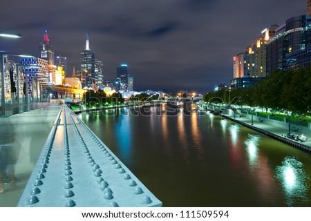 This image shows Melbourne, Australia - stock photo