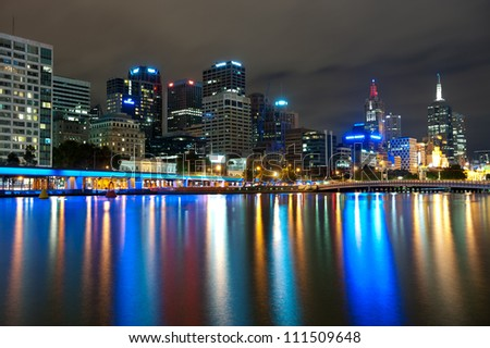 This image shows Melbourne, Australia