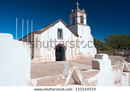 This image shows the Church of San Pedro, San Pedro de Atacama, Chile