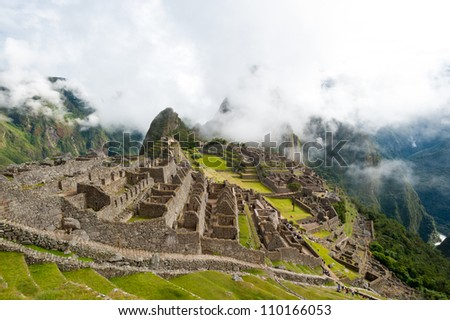 This image shows the Manchu Picchu complex in Peru.