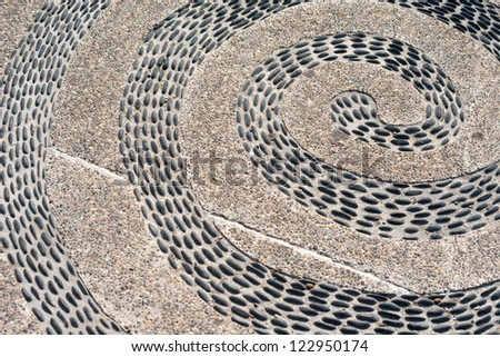 This image shows the pattern of the boardwalk in Puerto Vallarta, Jalisco, Mexico - stock photo