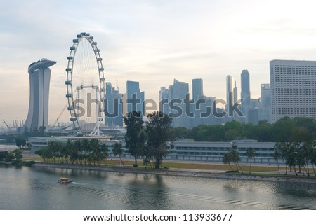 This image shows the vibrant city of Singapore, Singapore.