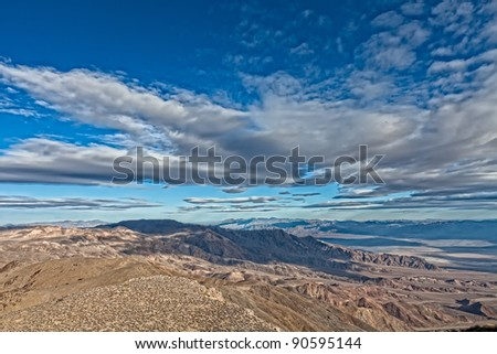 This image was captured on Aguereberry Point in Death Valley National Park, California. - stock photo