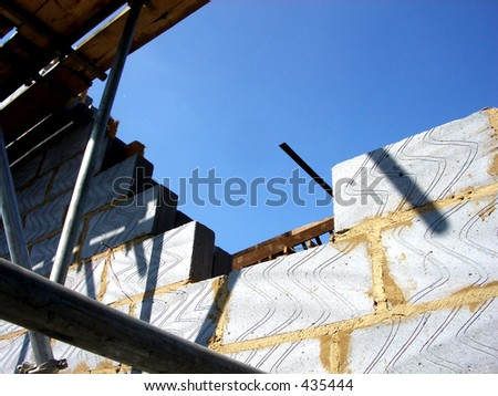 This is a building extension. - stock photo