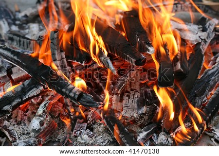 this is a closeup shot of fire, under my grill, like nice background