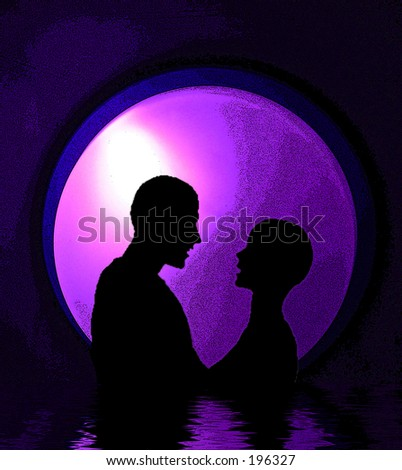 This is a computer generated romantic image. - stock photo