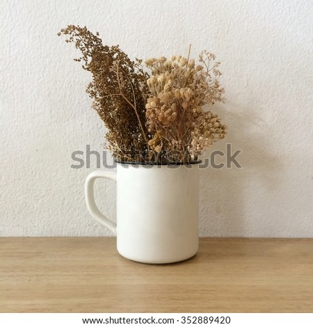This is a cup of flower - stock photo