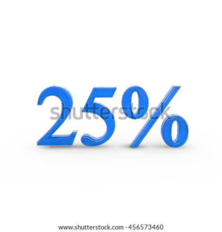This is a 3D rendered logo of a twenty five percent. It can be used as advertisement and other.