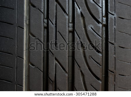 this is a face of car tire - stock photo