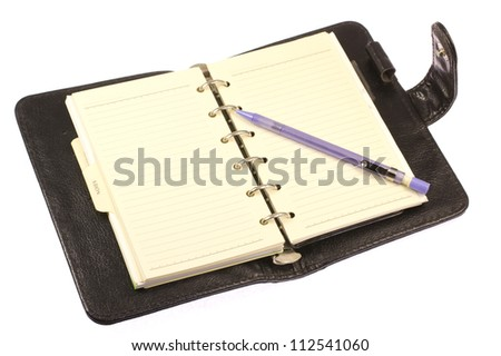 This is a photo of the notebook system I have used. - stock photo