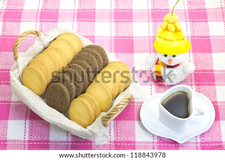 This is a photo on the table of a coffee break. - stock photo