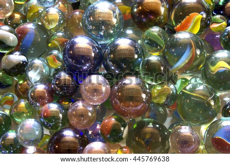 This is a photograph of Glass marble balls background