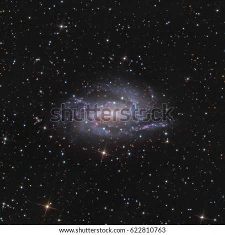 This is a picture of spiral galaxy NGC925. It is located about 30 million light years away in the constellation Triangulum.