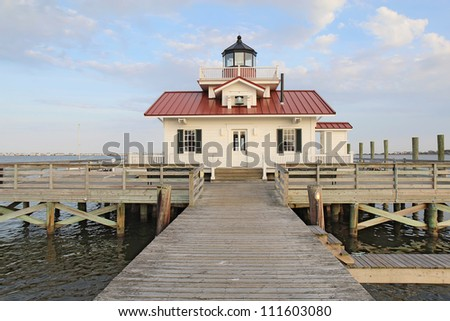 This is a replica of the original Roanoke Marshes Light which was at the southern entrance to Croatan Sound near Wanchese, North Carolina