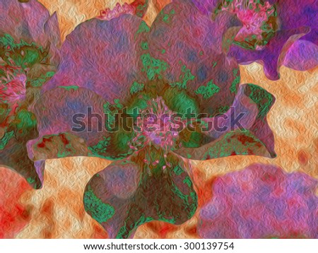 This is a series of Dogwood blossoms, stylized and rendered in variations of high color, for you to choose from.   - stock photo