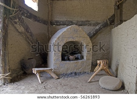 This Is A Shot In Reconstructed Neolithic Water House On Wooden Sticks Lake