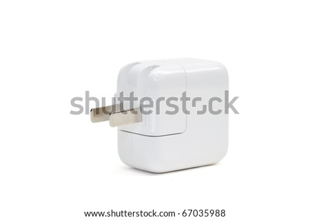 This is a USB Power Adapte in isolated shot