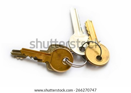 This is a view of key on white background.
