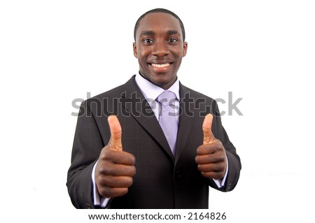 This is an image of business, happily giving the thumbs up. This represents great work, you got the job and your the best.
