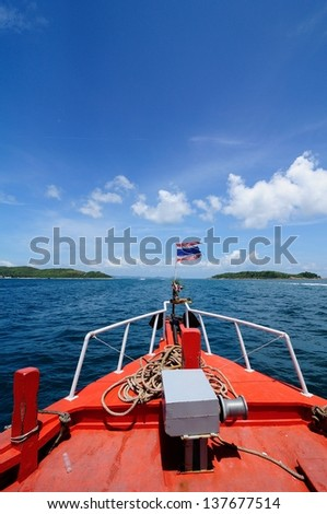 This is blue sea in summer of Pattaya,Chonburi,Thailand - stock photo