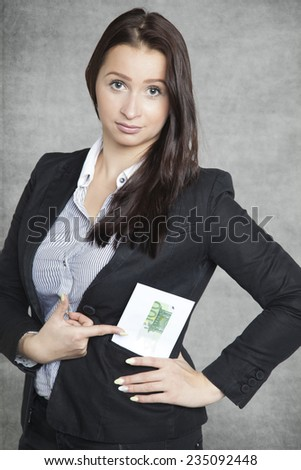 This is bribe - stock photo