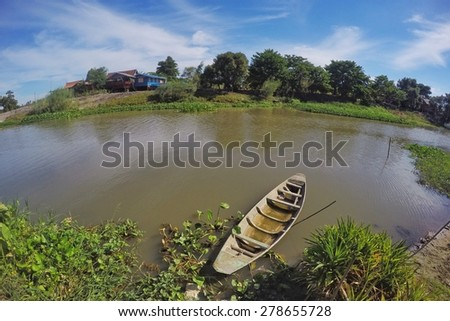 This is countryside of Supanburi Thailand - stock photo
