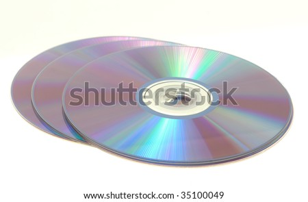 This is 3 DVD's on a white background