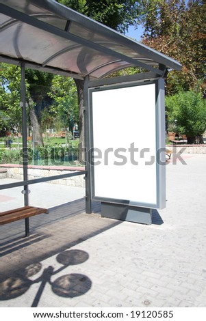 This is for advertisers to place ad copy samples on a bus shelter