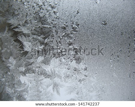 This is frosty pattern on glass winter window
