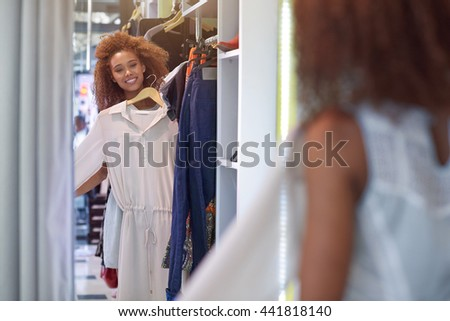 This is going to look great on me - stock photo