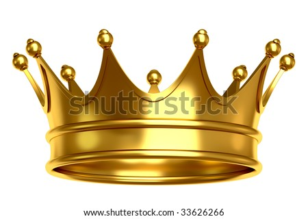 This is golden crown for a king - stock photo