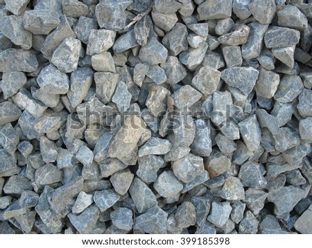 This is heap of grey acute stones                      - stock photo