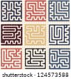 This Is Illustration Set Of Maze - stock photo