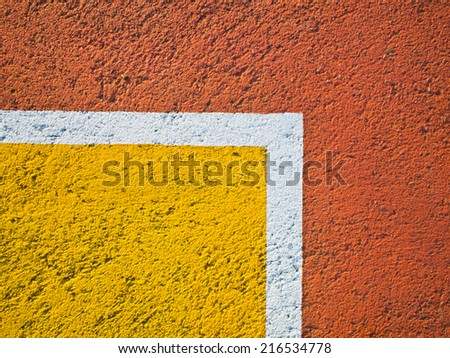 this is line on a basketball court - stock photo