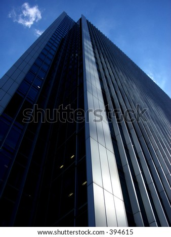 This is one of many office buildings in London's Docklands.