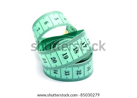 This is tape measure isolated. It is theme of measurement.