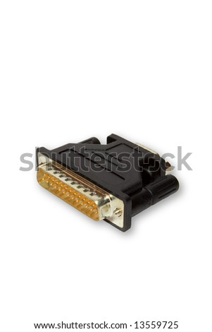 This is the computer COM-port adapter from 25 pin to 9 pin.