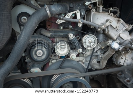 This is the engine of the car - stock photo