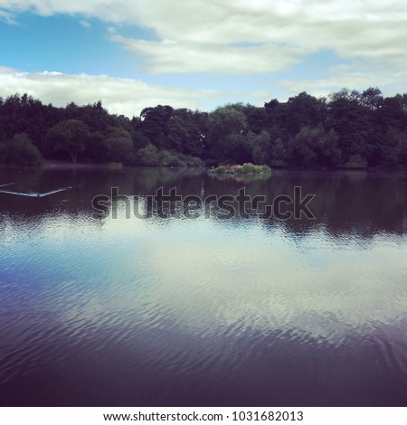 This is the lake within Apley Woods Telford Shropshire UK